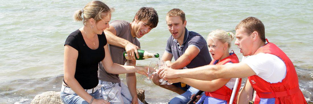 Floßfahrt und Spaß